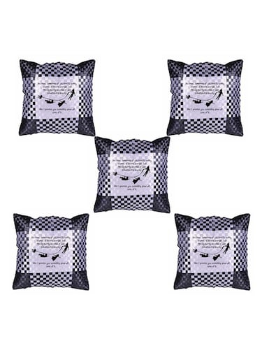 """Simple Quote"" Printed Set Of 5 Cushion Covers - 14535597 - Standard Image - 1"
