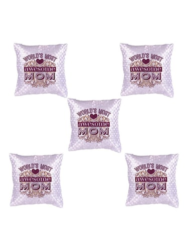"""Best Mom"" Printed Set Of 5 Cushion Covers - 14535609 - Standard Image - 1"