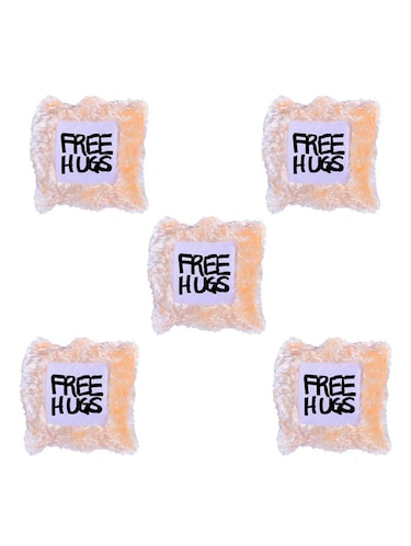 """Free Hugs"" Quoted Printed Set Of 5 Cushion Covers - 14535691 - Standard Image - 1"