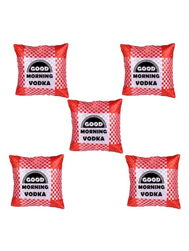 """Good Morning"" Quoted Printed Set Of 5 Cushion Covers - 14535768 - Standard Image - 1"
