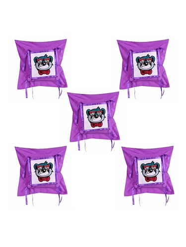Cartoon Printed Set Of 5 Cushion Covers - 14535792 - Standard Image - 1