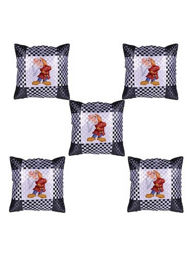 "Cartoon"" Dwarf""  Printed Set Of 5 Cushion Covers - 14535814 - Standard Image - 1"