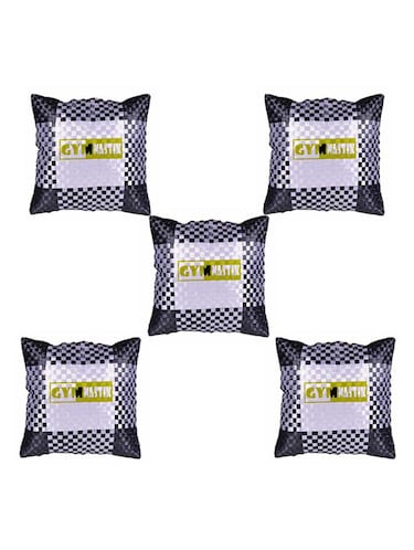 Simple Quoted Printed Set Of 5 Cushion Covers - 14535834 - Standard Image - 1