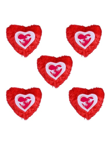 Heart Printed Set Of 5 Cushion Covers - 14535951 - Standard Image - 1