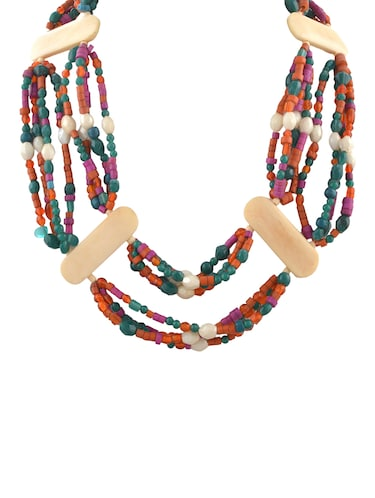 multi colored metal long necklace - 14536479 - Standard Image - 1