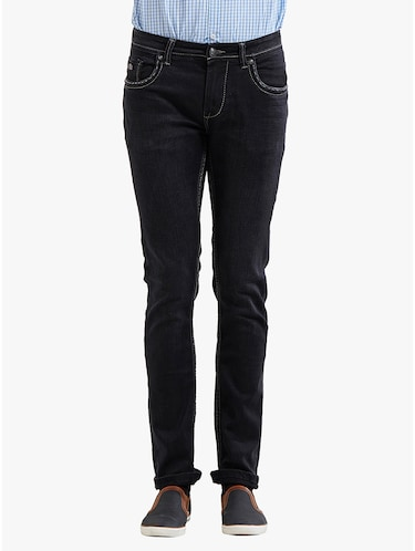 black cotton plain jeans - 14536504 - Standard Image - 1
