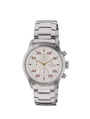 Titan Silver Water Resistant chronograph Watch For Men - 1634SM01 - 14537804 - Standard Image - 1