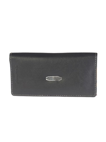 black synthetic leather wallet - 14538887 - Standard Image - 1