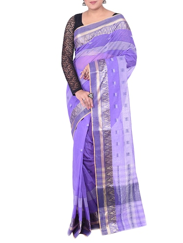 purple tant saree - 14541131 - Standard Image - 1
