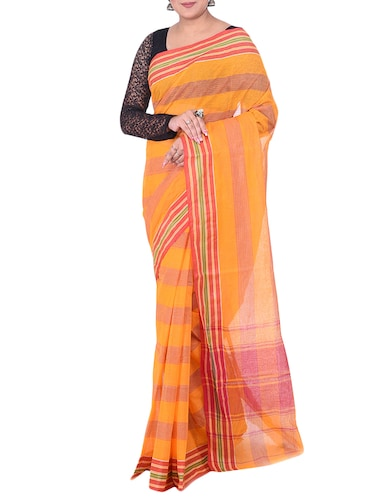 orange tant saree - 14541146 - Standard Image - 1