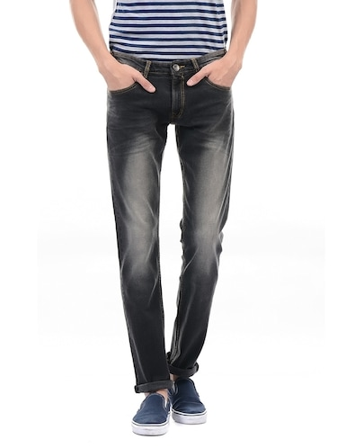grey cotton washed jeans - 14542146 - Standard Image - 1