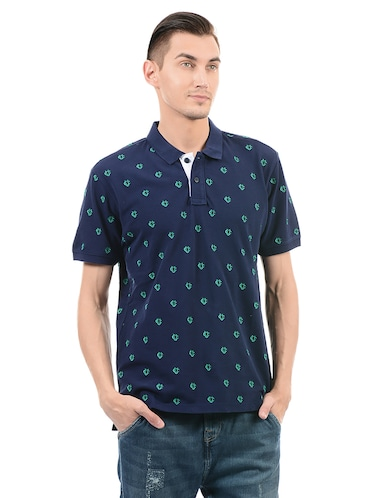 navy blue cotton t-shirt - 14542241 - Standard Image - 1