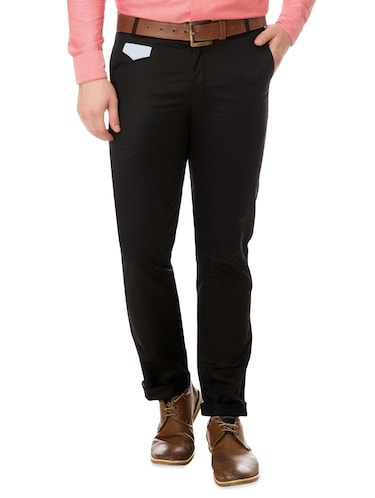 black cotton chinos casual trousers - 14542297 - Standard Image - 1