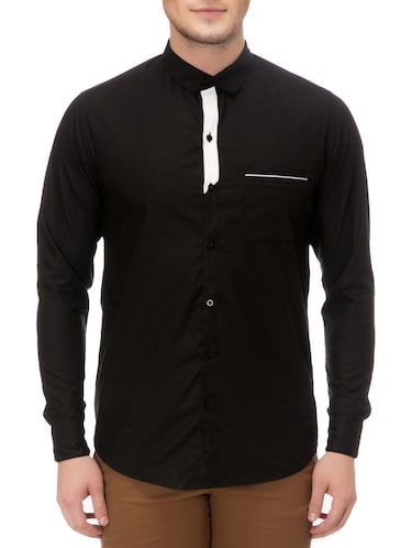 black cotton casual shirt - 14542300 - Standard Image - 1