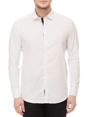 white cotton casual shirt - 14542314 - Standard Image - 1