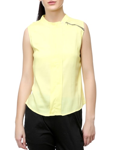 yellow solid top - 14542420 - Standard Image - 1