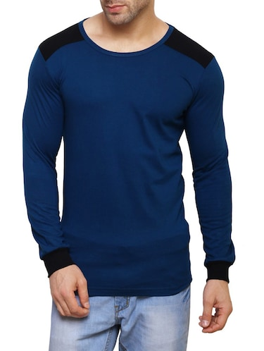 blue cotton t-shirt - 14543080 - Standard Image - 1