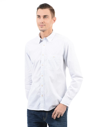 blue cotton casual shirt - 14543251 - Standard Image - 1