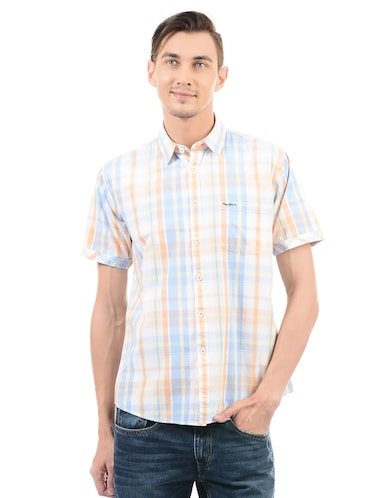 multi cotton blend casual shirt - 14543284 - Standard Image - 1