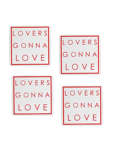 Lovers gonna Love printed Set of 4 coasters - 14543440 - Standard Image - 1