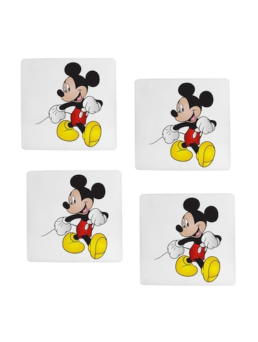"cartoon character ""Micky Mouse"" printed Set of 4 coasters - 14543441 - Standard Image - 1"