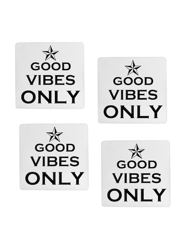 Good Vibes Only printed Set of 4 coasters - 14543444 - Standard Image - 1