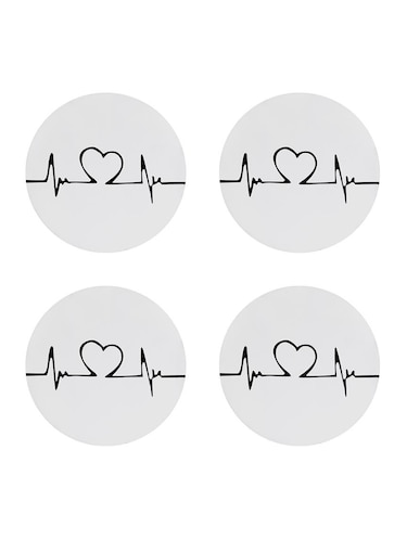 Heart Break printed Set of 4 coasters - 14543462 - Standard Image - 1