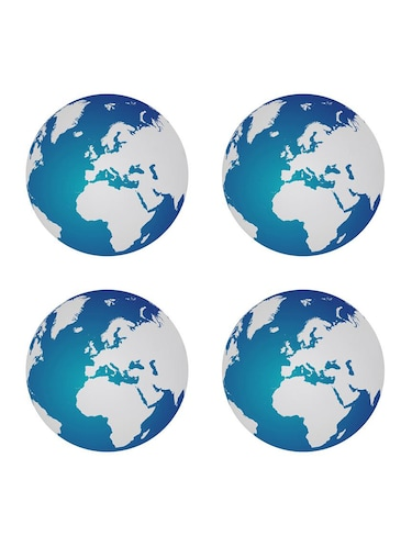 """Earth"" printed Set of 4 coasters - 14543480 - Standard Image - 1"