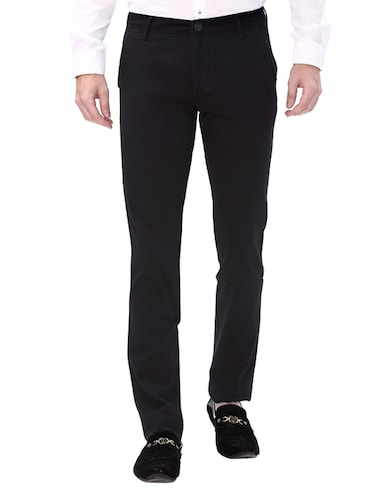 navy blue cotton chinos casual trouser - 14543924 - Standard Image - 1