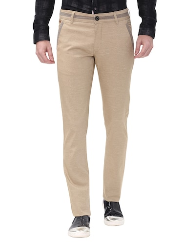 beige cotton chinos casual trousers - 14543952 - Standard Image - 1