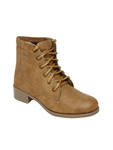 tan  faux leather ankle  boot - 14544453 - Standard Image - 1