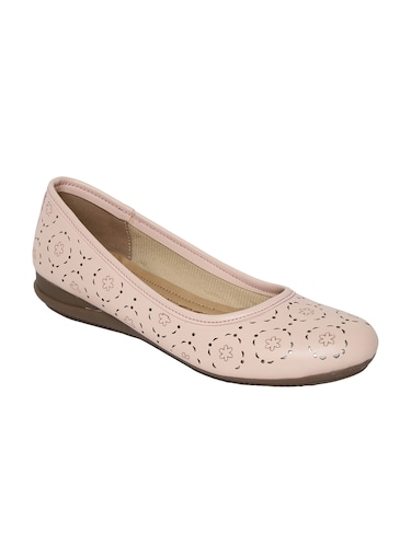 pink faux leather slip on ballerina - 14544475 - Standard Image - 1