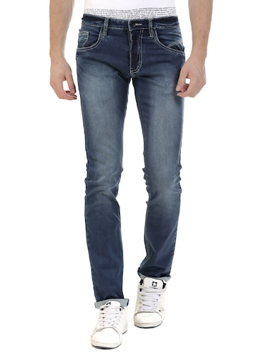 blue denim washed jeans - 14545675 - Standard Image - 1