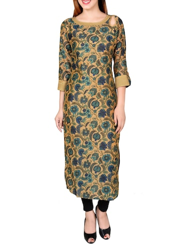 multicolored chanderi straight kurta - 14545961 - Standard Image - 1