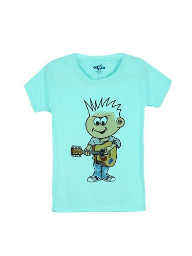 blue cotton t-shirt - 14546676 - Standard Image - 1