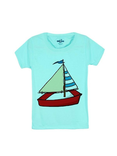 blue cotton t-shirt - 14546691 - Standard Image - 1