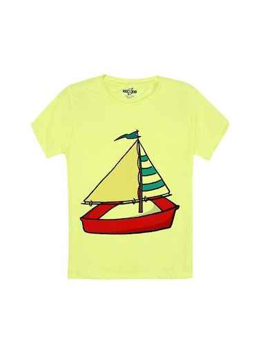 yellow cotton tshirt - 14546692 - Standard Image - 1
