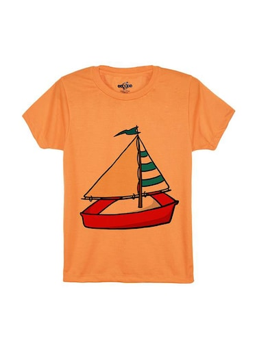 orange cotton tshirt - 14546693 - Standard Image - 1
