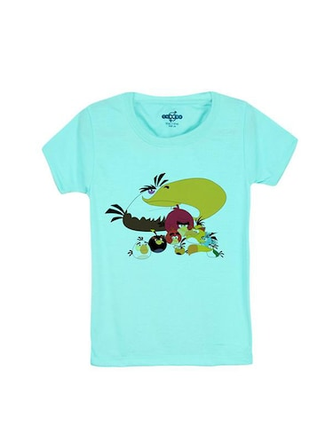 blue cotton t-shirt - 14546761 - Standard Image - 1