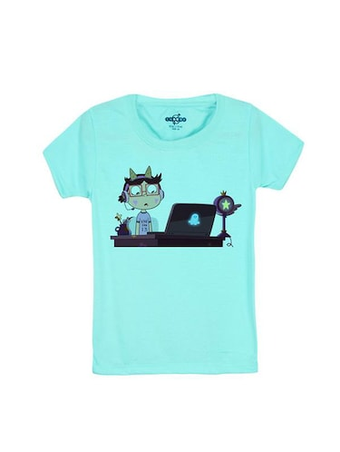 blue cotton t-shirt - 14546786 - Standard Image - 1
