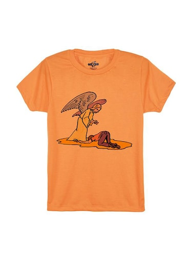 orange cotton tshirt - 14546838 - Standard Image - 1