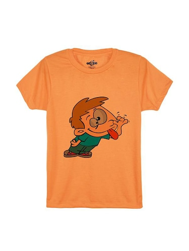 orange cotton tshirt - 14546858 - Standard Image - 1