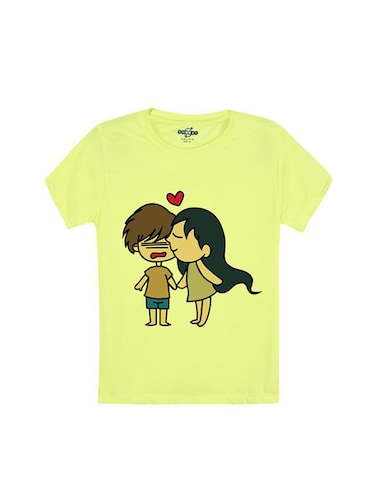 yellow cotton tshirt - 14546877 - Standard Image - 1