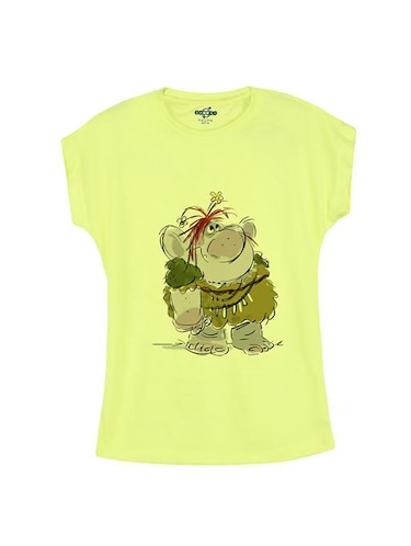 yellow cotton  tee - 14546912 - Standard Image - 1