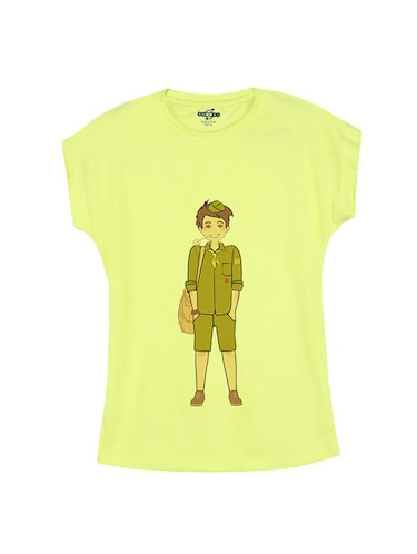 yellow cotton t-shirt - 14547035 - Standard Image - 1