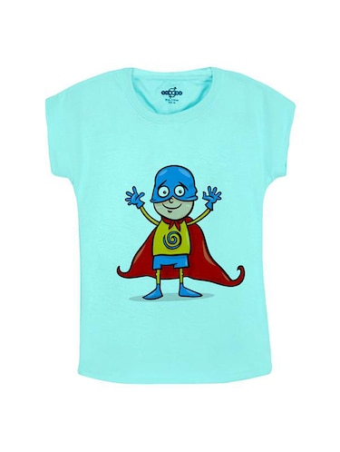 blue cotton t-shirt - 14547049 - Standard Image - 1