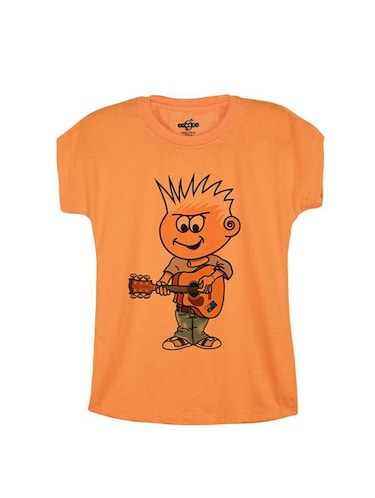 orange cotton t-shirt - 14547071 - Standard Image - 1