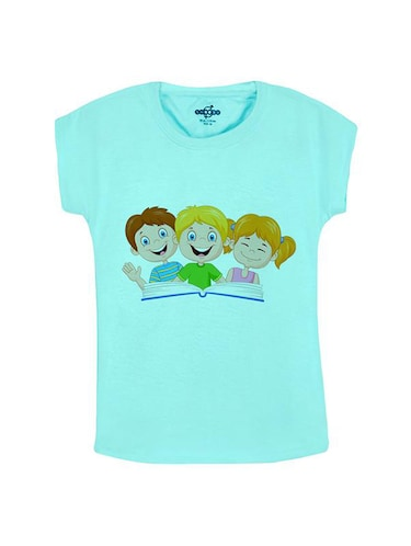 blue cotton tee - 14547104 - Standard Image - 1