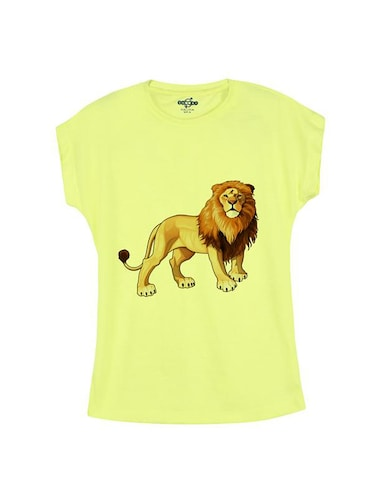 yellow cotton tee - 14547120 - Standard Image - 1