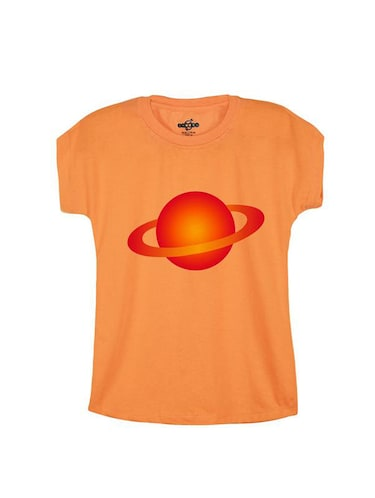 orange cotton  tee - 14547151 - Standard Image - 1